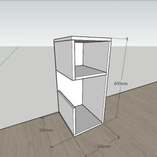 kit com 2 Mesa de cabeceira formato simples em mdf Preto