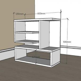 Mesa Lateral para sofá slim em mdf Branco