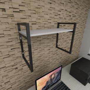 Prateleira industrial para escritório aço cor preto prateleiras 30 cm cor cinza modelo ind03ces
