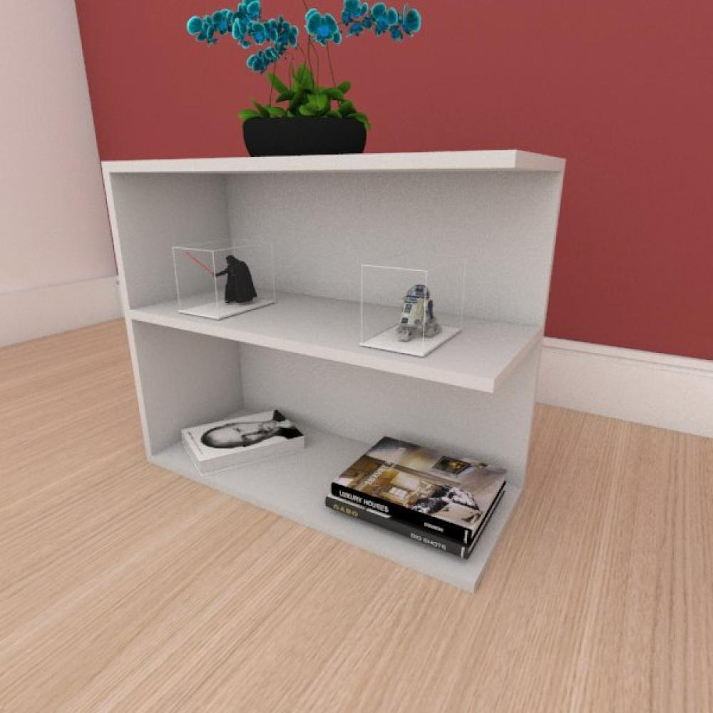 Mesa de cabeceira simples moderna em mdf cinza