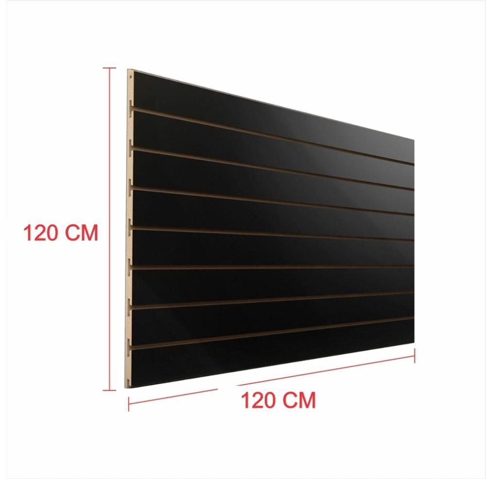 Expositor painel canaletado 18mm preto altura 120 cm comp 120 cm
