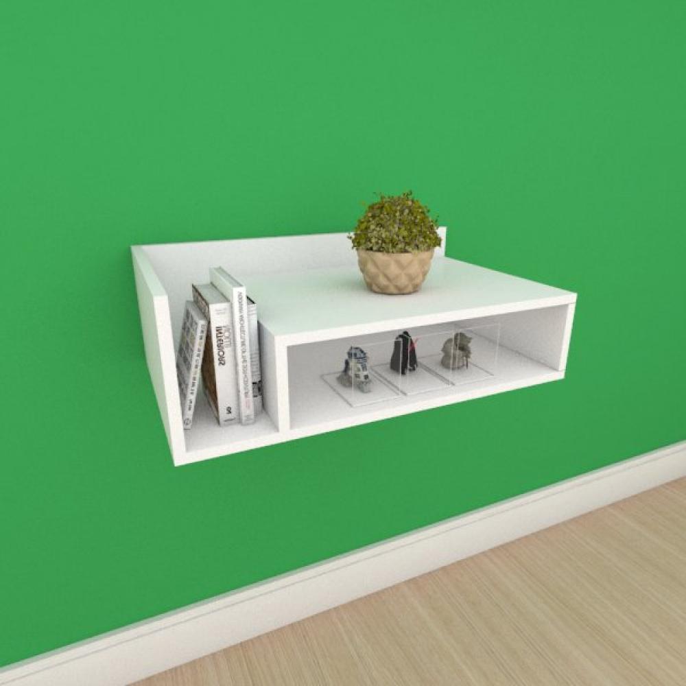 Mesa de cabeceira moderno simples em mdf branco