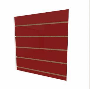 Expositor canaletado 18mm Vermelho Escuro Tx altura 60 cm comp 60 cm