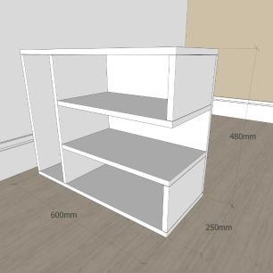 Mesa Lateral para sofá slim em mdf Amadeirado