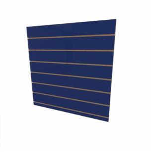 Expositor canaletado 18mm Azul Escuro Soft altura 90 cm comp 90 cm