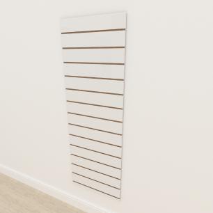 Painel canaletado 18mm Branco Texturizado altura 180 cm comp 60 cm
