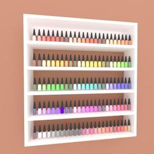 Prateleira, nicho para cosméticos, em mdf 45x45 Branco