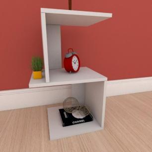 Mesa Lateral minimalista em mdf cinza