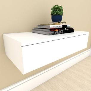 Mesa de cabeceira suspensa moderno Branco