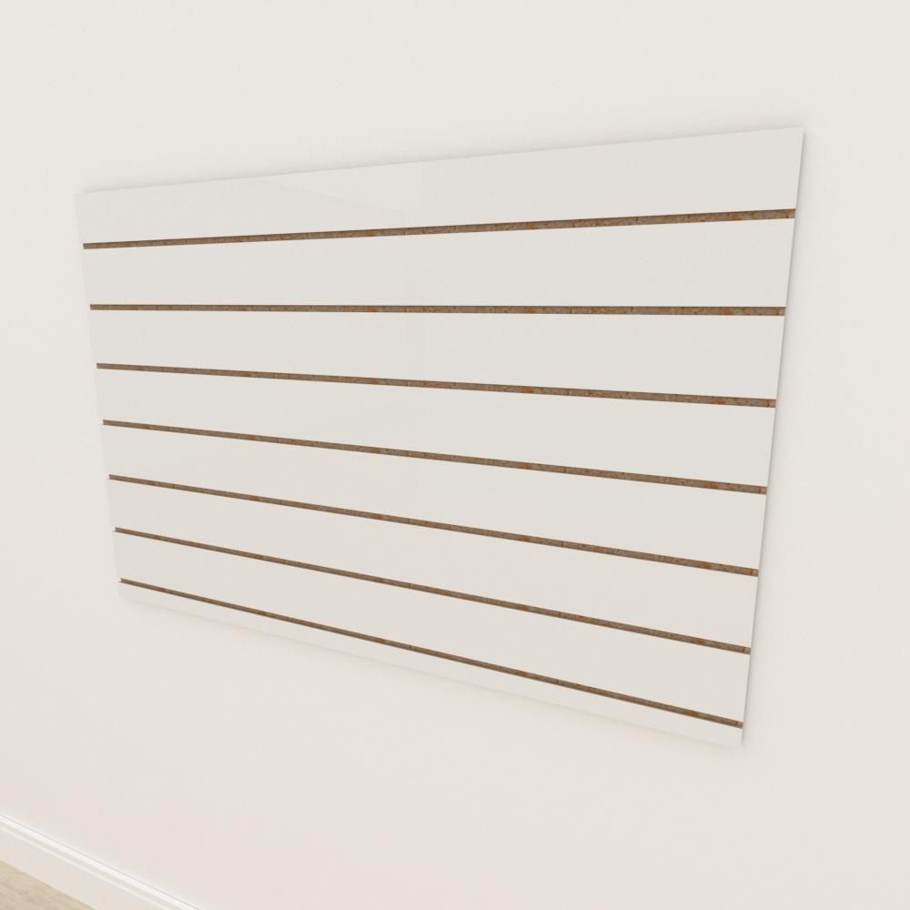 Painel canaletado 18mm Branco Texturizado altura 90 cm comp 135 cm