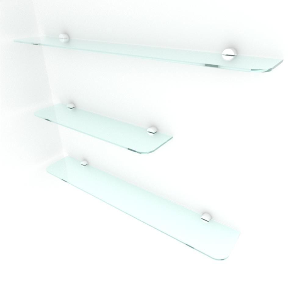 kit com 3 Prateleira de vidro temperado para sala 1 de 40(C)x8(P)cm 2 de 60(C)x8(P)cm