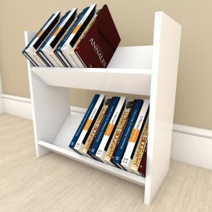 Prateleira para livros Duplo em mdf Branco