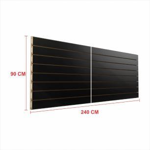 Painel canaletado 18mm preto altura 90 cm comp 240 cm