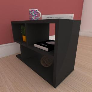 Estante de Livros minimalista em mdf preto