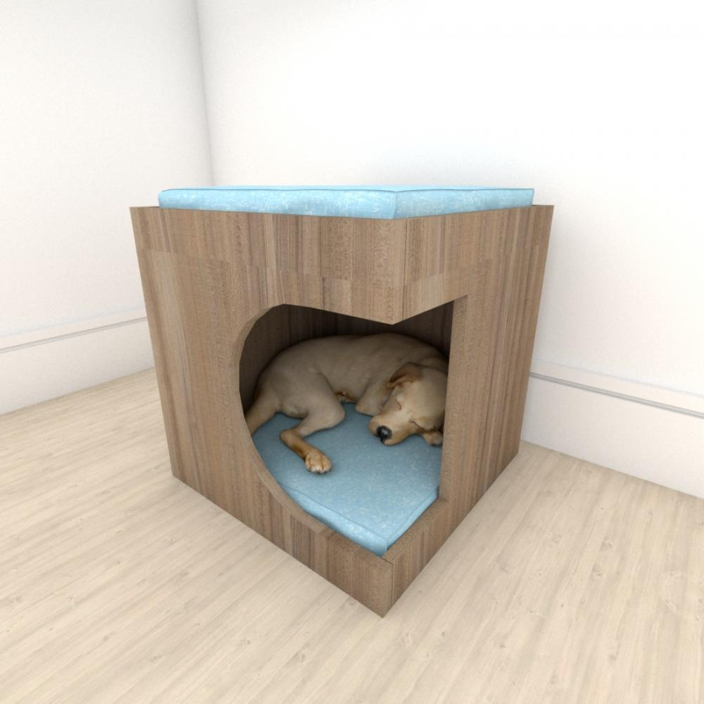 bercinho casinha para cachorro em mdf Amadeirado