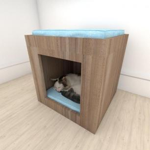 camapet para Gato em mdf Amadeirado
