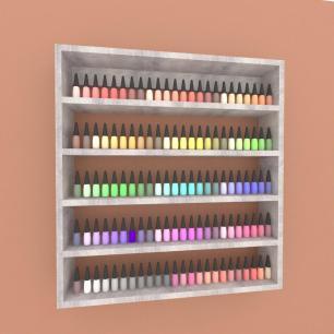 Prateleira, nicho para cosméticos, em mdf 45x45 Rustico