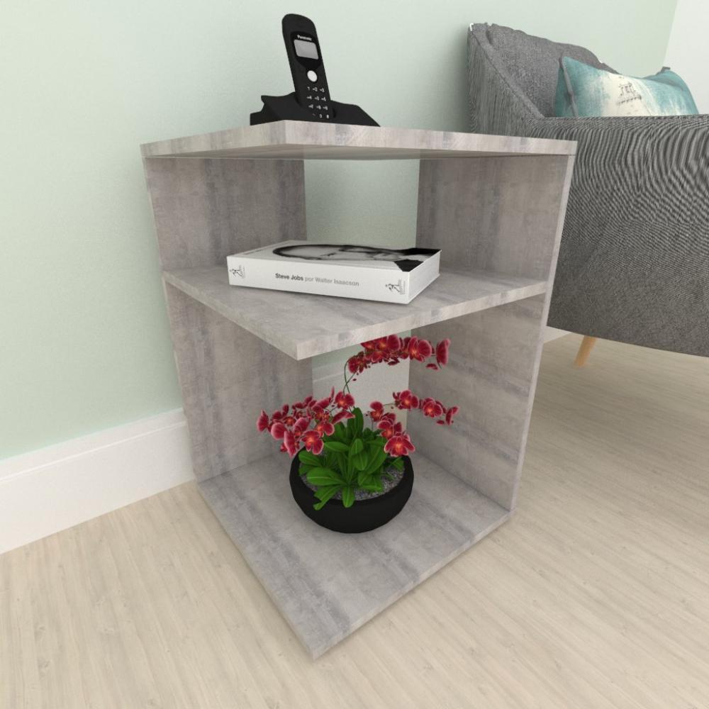 mesa de canto, mesa lateral sofá, em mdf Rustico