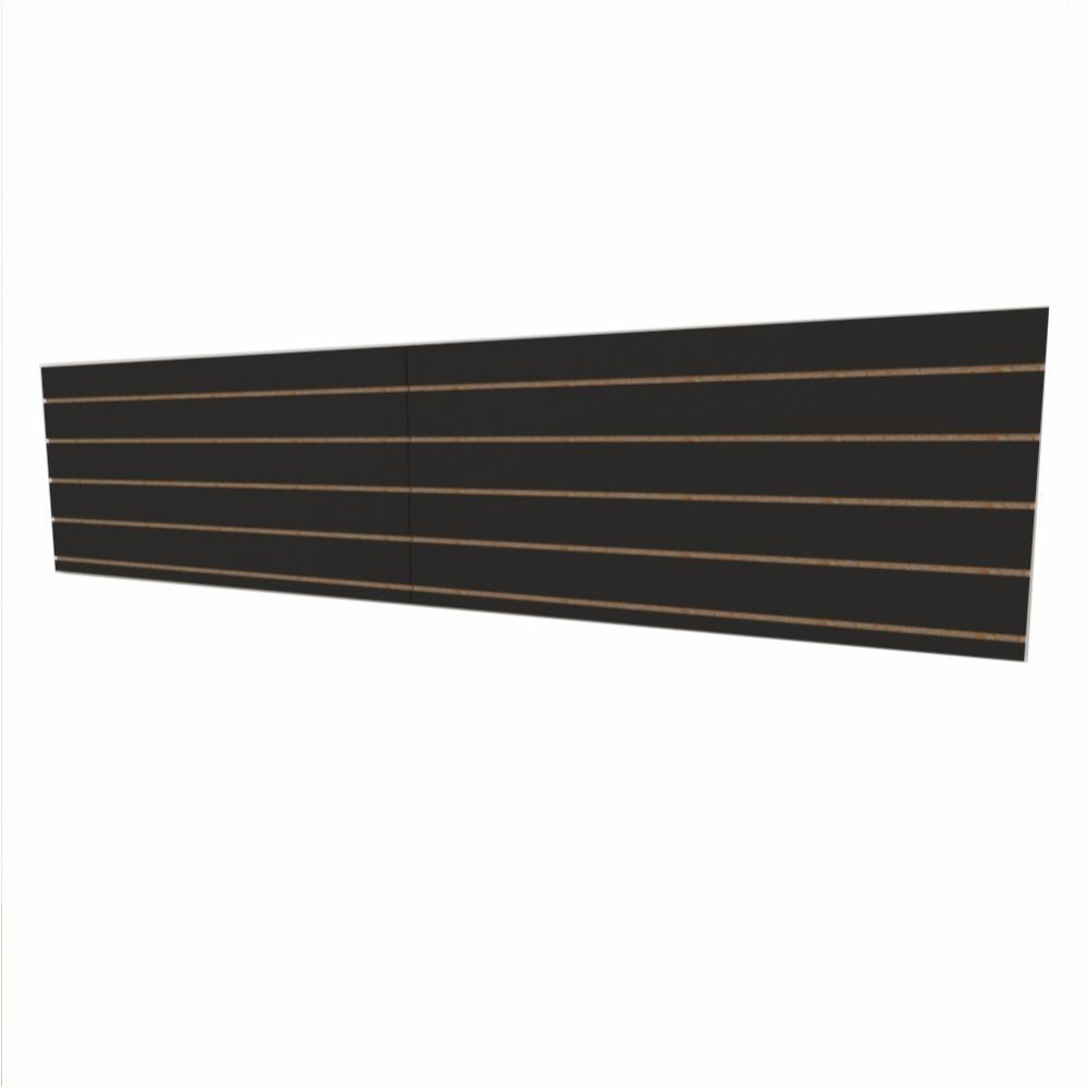 Expositor canaletado 18mm Preto Texturizado altura 60 cm comp 270 cm