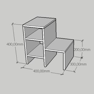 Mesa Lateral compacta moderna em mdf cinza