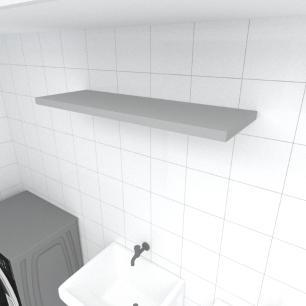 Prateleira para lavanderia MDF suporte Inivisivel cor cinza 90(C)x30(P)cm modelo pratlvc19