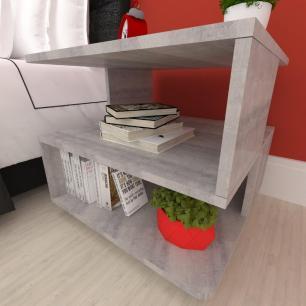 Mesa de centro, nichos Design, em mdf Rustico