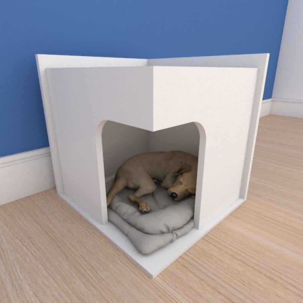 Mesa de cabeceira caminha slim pequeno cachorro em mdf branco