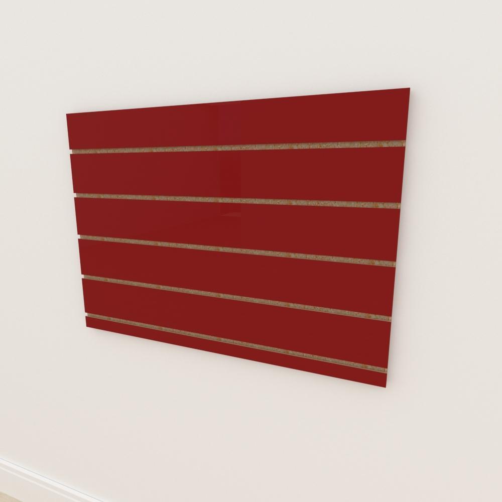 Painel canaletado 18mm Vermelho Escuro Tx altura 60 cm comp 90 cm