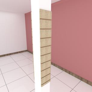 Kit 2 Painel canaletado para pilar amadeirado claro 2 peças 20(L)x120(A)cm