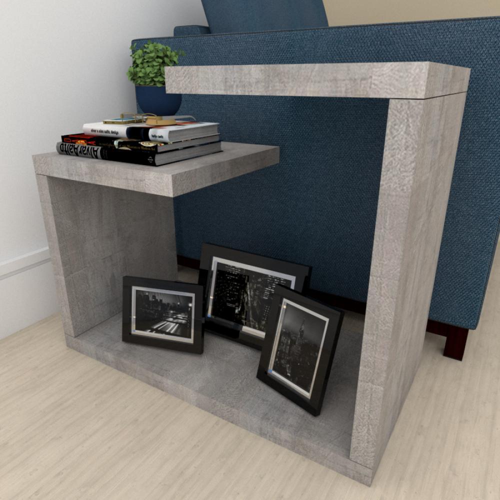 Mini estante para escritório moderna rustico