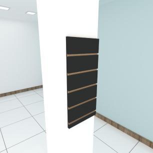 Painel canaletado para pilar preto 1 peça 30(L)x60(A)cm