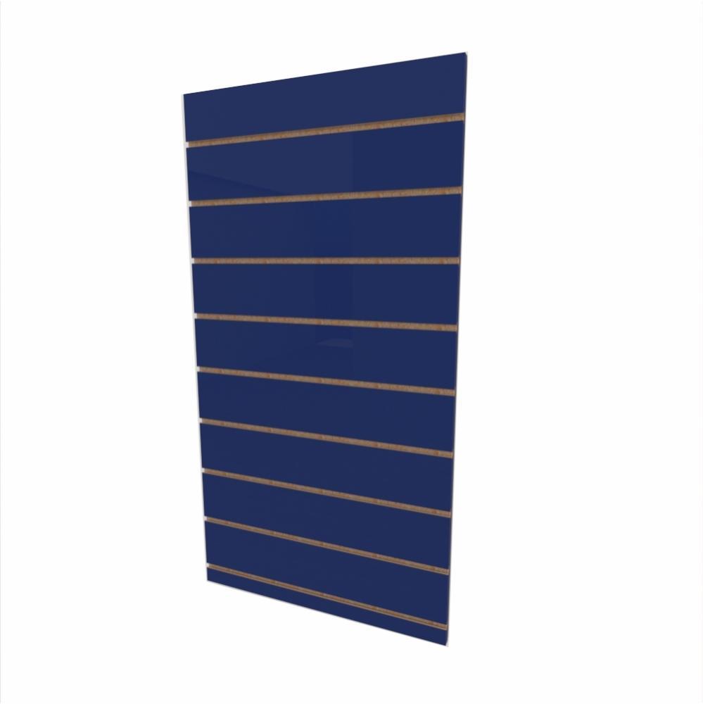 Expositor canaletado 18mm Azul Escuro Soft altura 120 cm comp 60 cm