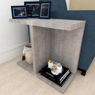 Kit com 2 mesa de cabeceira moderna rustico
