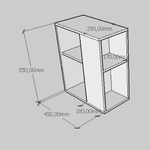 Mesa de cabeceira pequena com prateleira em mdf amadeirado