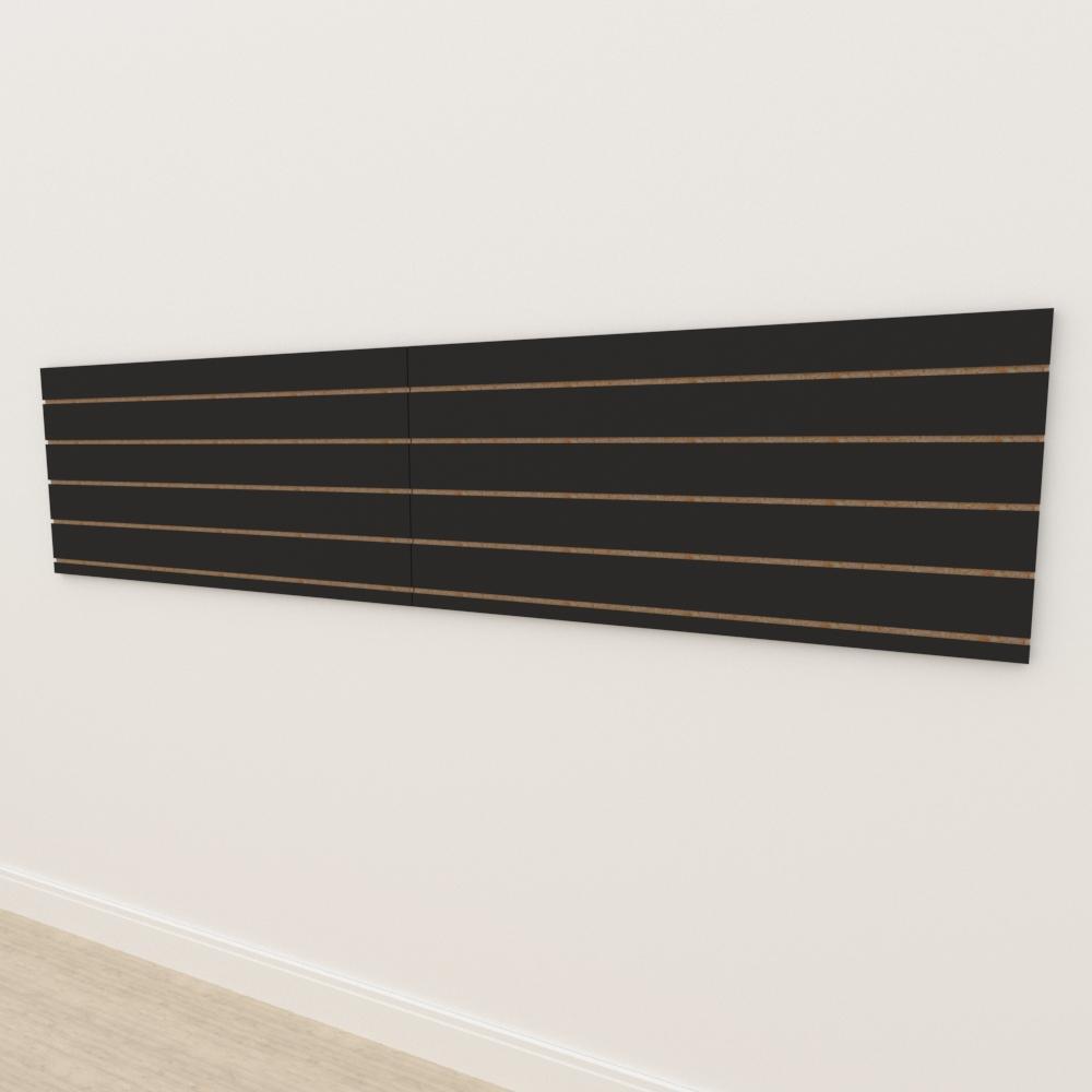 Painel canaletado 18mm Preto Texturizado altura 60 cm comp 270 cm