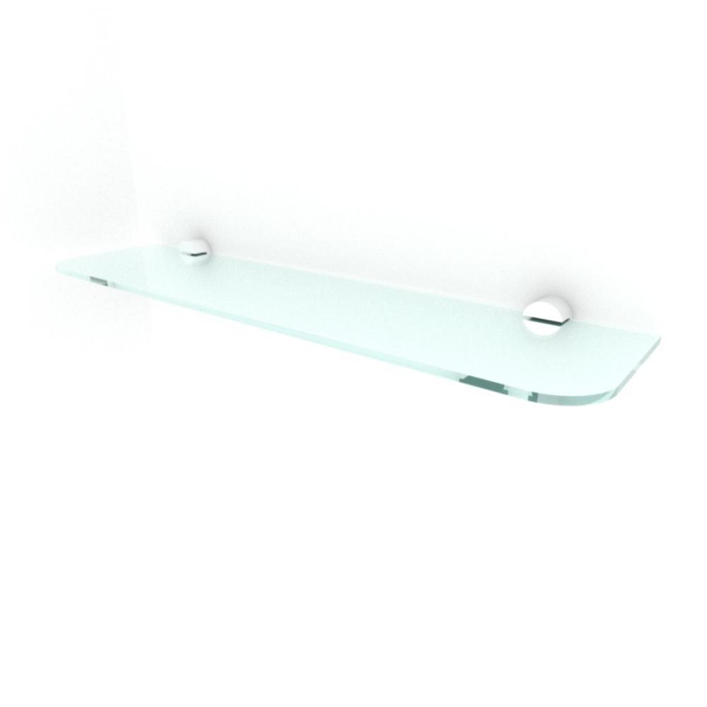 kit com 1 Prateleira de vidro temperado para sala 40(C)x8(P)cm