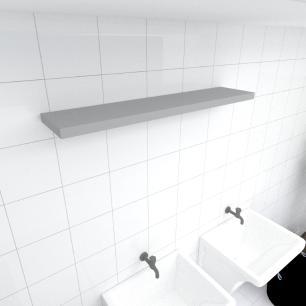Prateleira para lavanderia MDF suporte Inivisivel cor cinza 90(C)x20(P)cm modelo pratlvc25