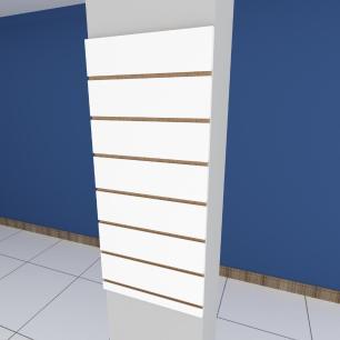 Painel canaletado para pilar branco 1 peça 30(L)x90(A)cm