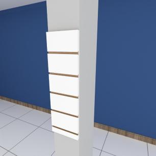 Painel canaletado para pilar branco 1 peça 20(L)x60(A)cm
