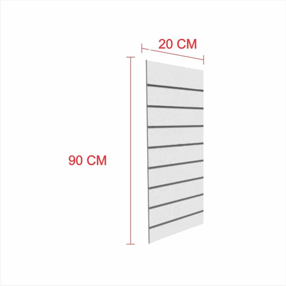 Expositor painel canaletado 18mm cinza altura 90 cm comp 20 cm