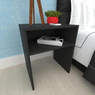 Mesa lateral sofá, mesa de canto, em mdf preto