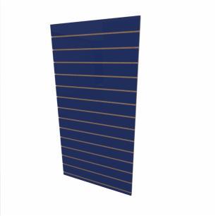 Expositor canaletado 18mm Azul Escuro Soft altura 180 cm comp 90 cm