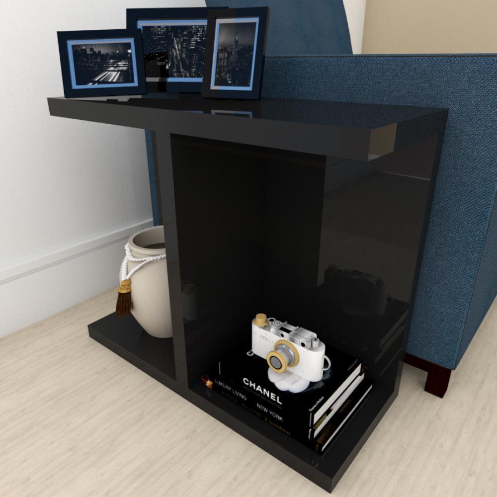 Mini estante para escritório moderna preto