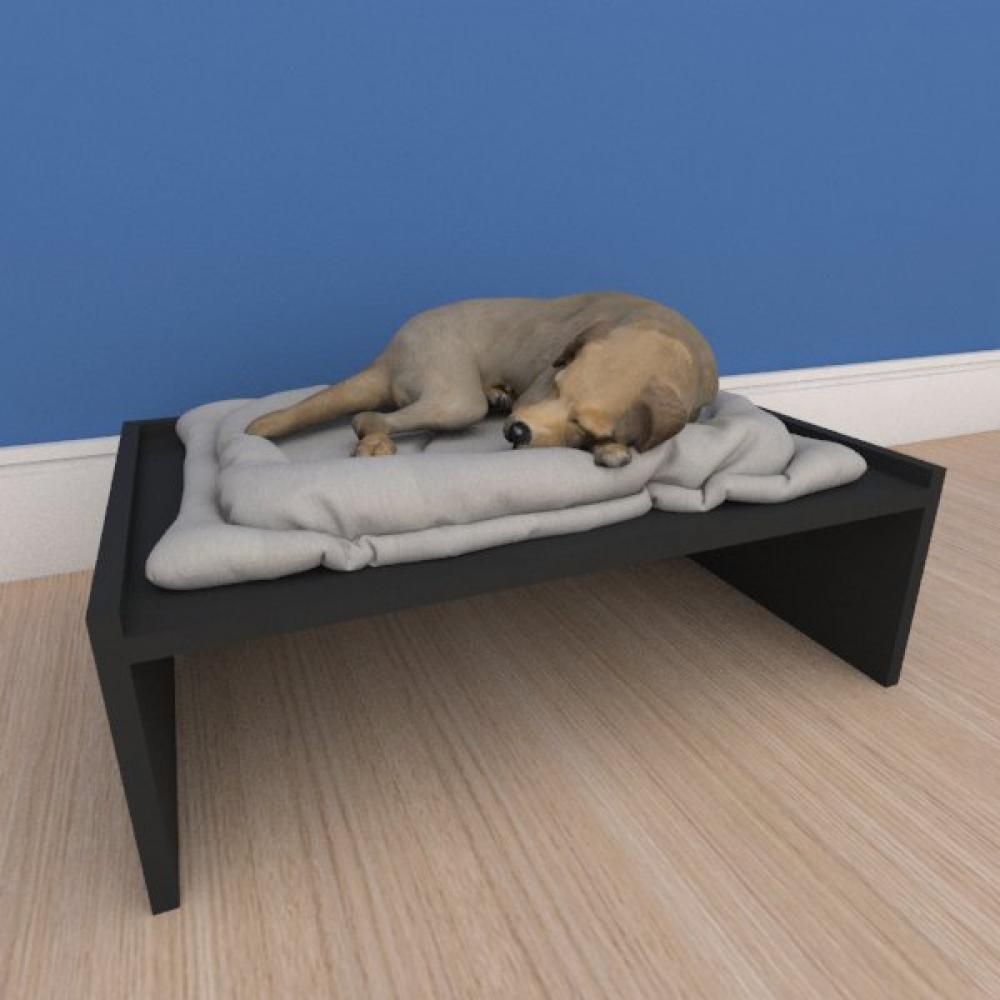 Mesa de cabeceira caminha bercinho pequeno cachorro em mdf preto
