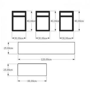 Prateleira industrial para Sala aço cor preto prateleiras 30cm cor branca modelo ind07bsl