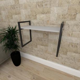 Mini estante industrial para escritório aço cor preto prateleiras 30cm cor cinza modelo ind03cep