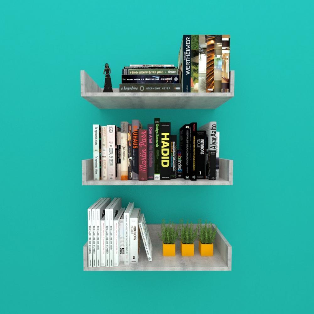 Estante de Livros nichos modernos, em mdf Rustico