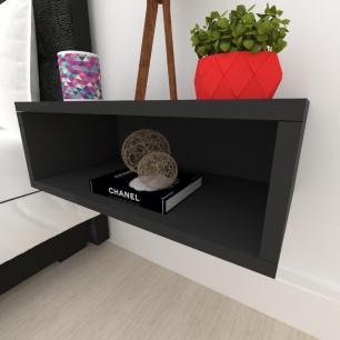 Criado mudo, mesa de cabeceira, suspenço, em mdf preto