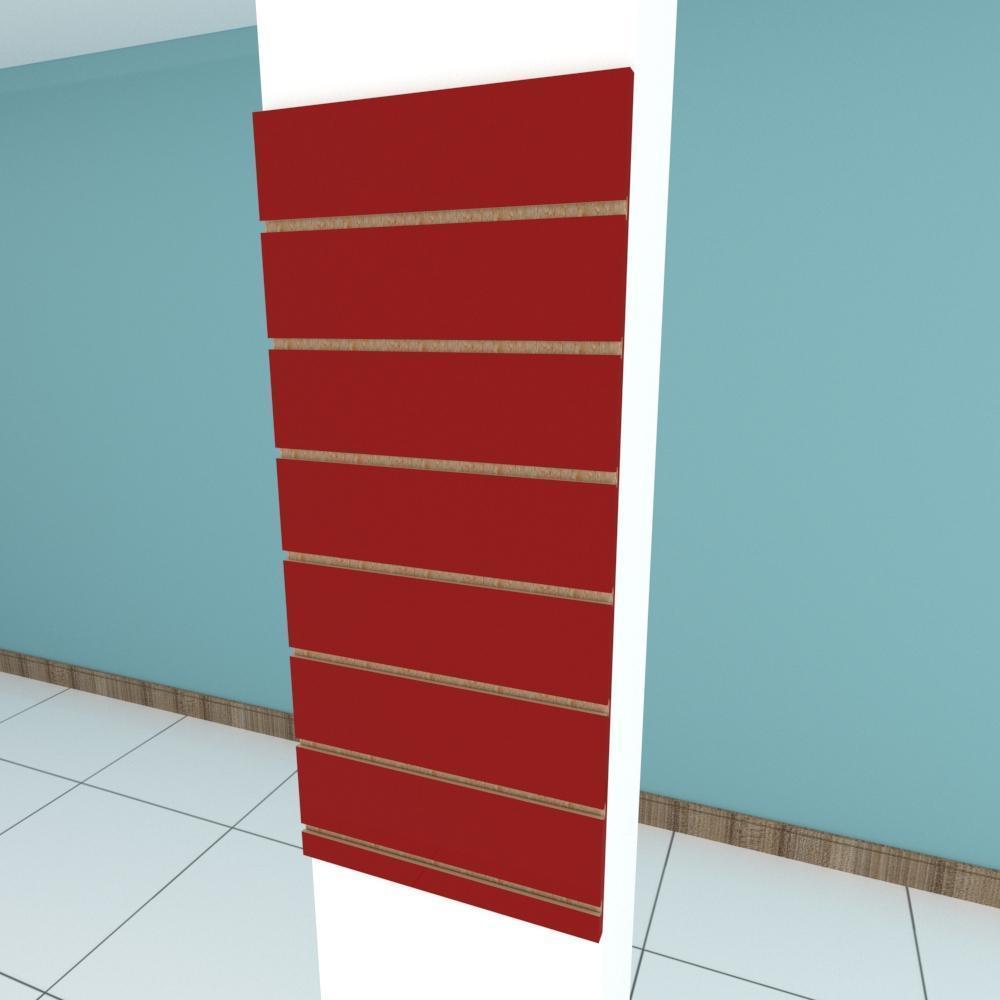 Painel canaletado para pilar vermelho escuro 1 peça 40(L)x90(A)cm