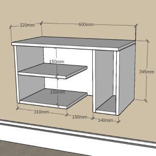 Mesa de Cabeceira moderno com nichos em mdf Amadeirado